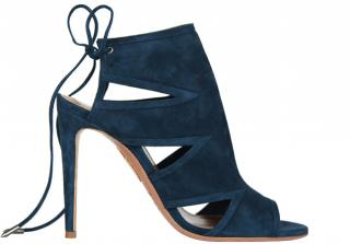 Aquazurra Blue Berkeley suede sandals