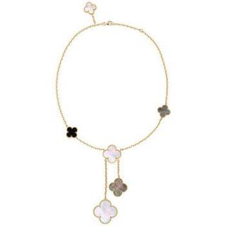 Van Cleef & Arpels Magic Alhambra yellow gold necklace