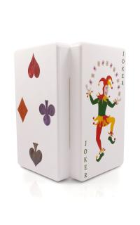 Urania Gazelli Double Sided Joker And Four Suits Clutch