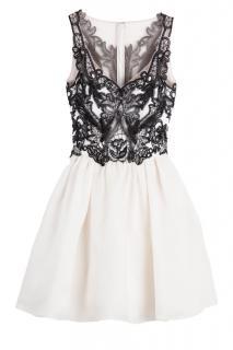 Marchesa Notte Silk Gazaar Dress