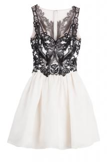 Marchesa Notte Silk Gazaar Dress