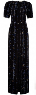 Beulah Jade Linear Floral Gown