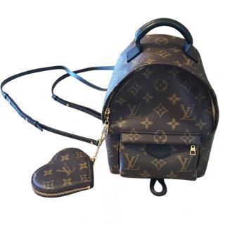 Louis Vuitton Palm Springs Mini Monogram Backpack & Heart Coin Purse