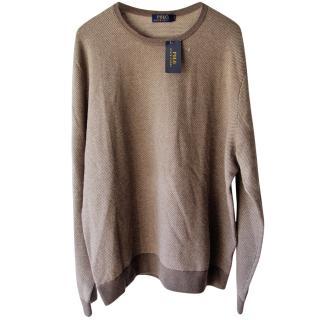 Ralph Lauren brown knit sweater