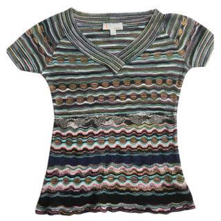 M Missoni multicolour striped jersey top