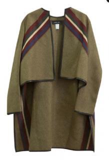 Derek Lam olive wool jacket poncho/ cape