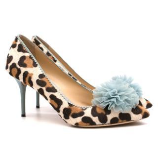 Charlotte Olympia Desiree Leopard Heeled Pumps