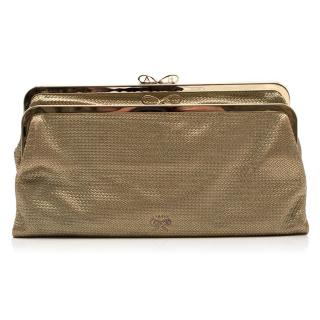 Anya Hindmarch Luce Gold Metallic Clutch