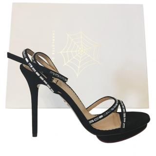Charlotte Olympia Black Evelyne Sandals