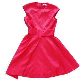 Dior asymmetric silk wool blend dress