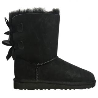 Ugg Kids Bailey Bow black  boots