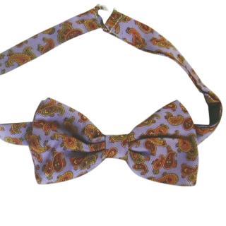 Louis Feraud lilac paisley bow tie