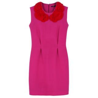 Markus Lupfer 100% Wool Pink Shift Dress