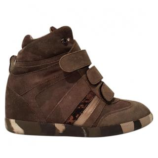 SERAFINI brown hightop trainers