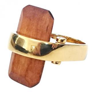 Lele Sadoughi Sandbar Ring with signature pouch