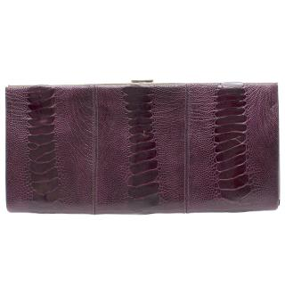 Christian Louboutin Crocodile Embossed Leather Chain Clutch