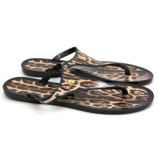 Roberto Cavalli Leopard Jelly Sandals