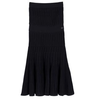 Chanel Bandeau Pleated A-Line Dress