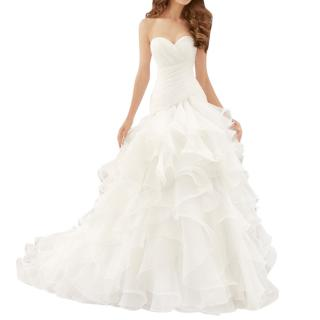 Morilee by Madeline Gardner Draped and Flounced Organza Wedding Dress