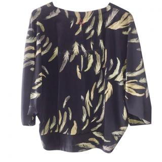 A.F.Vandervost feather print blouse