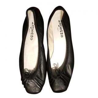 Repetto soft black leather ballerinas
