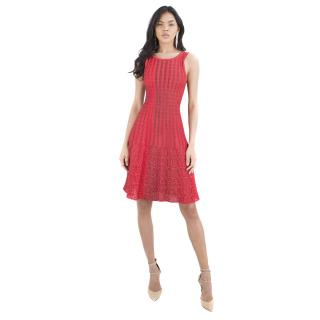 Alaia Red Motif Knit Dress