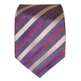 Paul Smith purple Navy and red stripe Tie