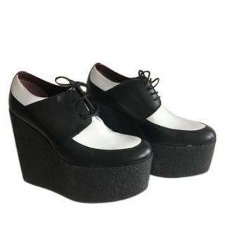 Celine New Black & White Creeper Shoes