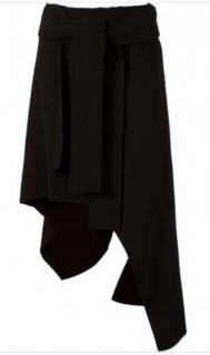 UMA   RAQUEL DAVIDOWICZ high-low/asymmetrical black wool skirt