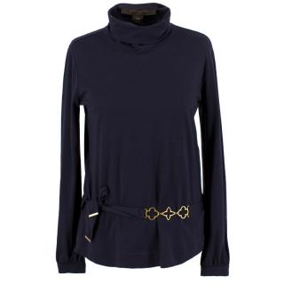 Louis Vuitton Wool and Silk Roll Neck Top