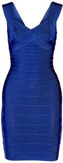 Herve Leger cobalt blue dress