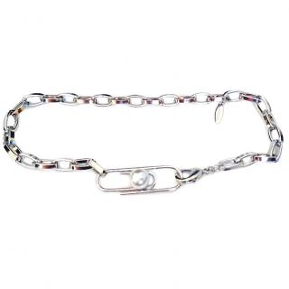 Joomi Lim Paperclip Necklace with Pearl