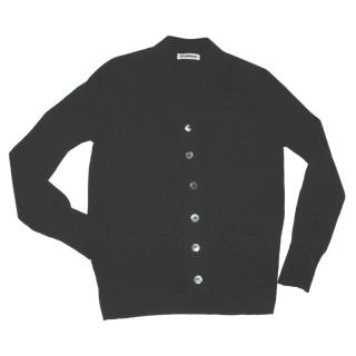 JIL SANDER black cardigan, size 40