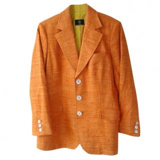 Bogner orange silk blazer