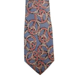 Moschino Pop Art Peace Sign Tie
