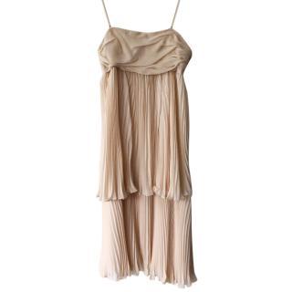 Joseph Margot long silk georgette dress plisee