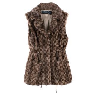 The London Fur Company Mink Fur Monogram 'G' Gilet