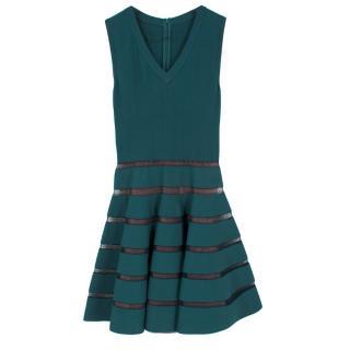 Alaia Sleeveless Sheer Stripe Dress