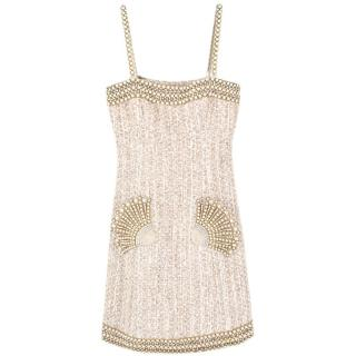 Andrew GN Tweed Pearl Embellished Dress