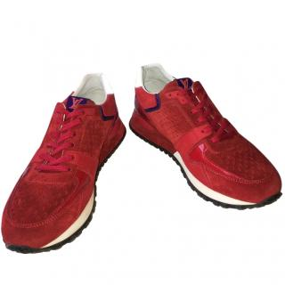 Louis Vuitton red trainers
