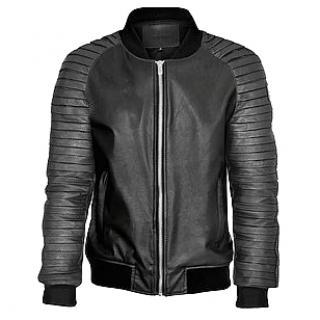 SSD Black Leather Jacket