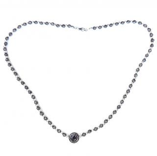 Bespoke Chocolate Diamond Necklace 5ct sterling silver