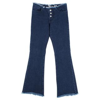 Marques Almeida Frayed Flared Jeans
