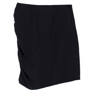 Lanvin Silk Asymmetric Drape Skirt