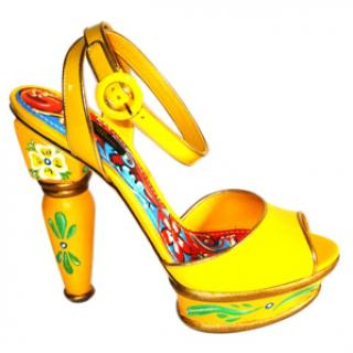 Dolce & Gabbana Hand Painted 'Keira' Sandals