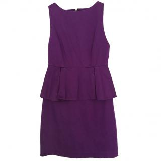 Alice + Olivia Purple Peplum Dress