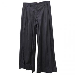 Jim Sander Navy Wide Leg Trousers