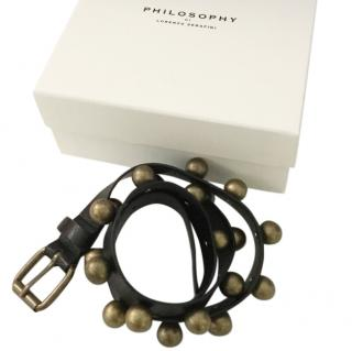 Philosophy Di Lorenzo Black leather belt