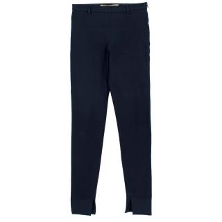 Roland Mouret Mortimer Skinny-leg Cotton Blend Trousers
