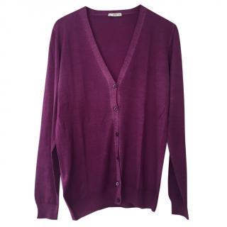 Prada Purple Cardigan